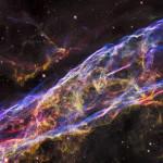 Close-up image of Veil Nebula. HST Image.