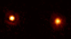 The binary orange giant Mira and companion. Hubble image