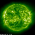 This ultraviolet images shows some of the sun's power that is invisible under visual wavelengths. NASA Image