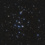 The Hyades (M44) in Cancer is one of the closest open cluster to Earth at 151 light years distance. NASA Image, Bob Franke